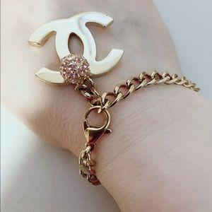 Chanel CC Logo chain bracelet